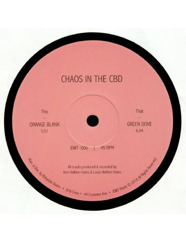 Chaos In The CBD ‎– Orange...